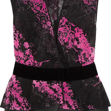 Antonio Berardi - Metallic flocked tulle vest