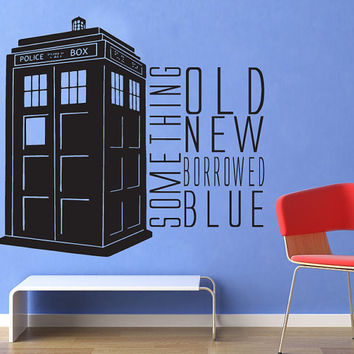 shop doctor who tardis decal on wanelo. Black Bedroom Furniture Sets. Home Design Ideas