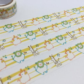 animal washi tape 3M giraffe lion pig safari animals sticker tape deco kid party baby shower invitation planner diary scrapbook gift