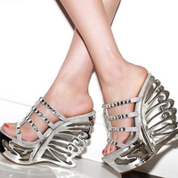 2015 PU Leather Rhinestone woman high heel Pumps wedge sandals Sexy Open Toe Women High Heel 14.5cm sandals Strange Style Shoes