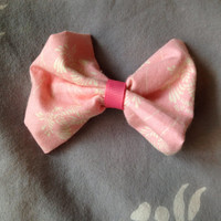 Small Pink Hair Bow Clip