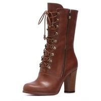 Bqueen Leather Lace-Up Boots B014Z1