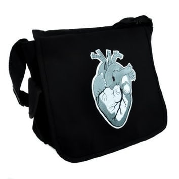 Anatomical Heart Messenger Bag School Work Medical Student