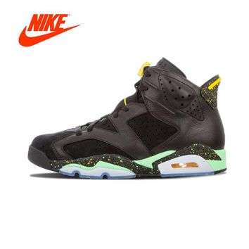 """Original New Arrival Authentic NIKE Air Jordan 6 Retro """"Brazil Pack"""" Mens Basketball Shoes Sneakers Sport Outdoor Good Quality"""