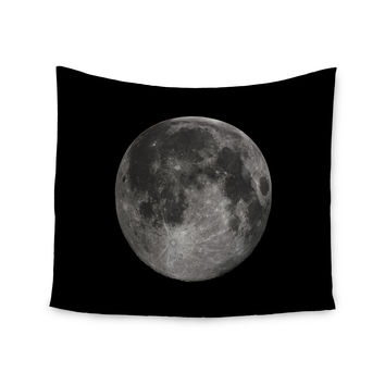 "Alias ""Luna"" Black Gray Wall Tapestry"