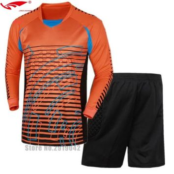 survetement football Shirts Goalkeeper clothing Men's Goalkeeper Soccer Jerseys Set Football Suit Adult Goalie Keeper Long Sleev