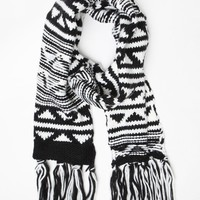 Me To We Floating Aw Fringe Scarf - Womens Scarves - Black - One