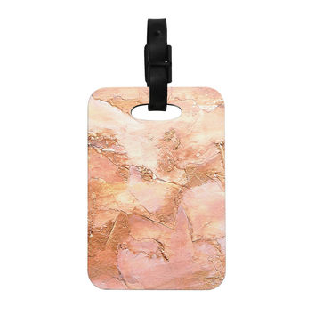 "Rosie Brown ""Bronze It"" Orange Paint Decorative Luggage Tag"