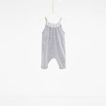 Stripe print jumpsuit - DRESSES AND JUMPSUITS-BABY GIRL | 3 months-3 years-KIDS | ZARA United States