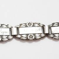 Sterling Silver 1940's World War 2 Forget Me Not Bracelet