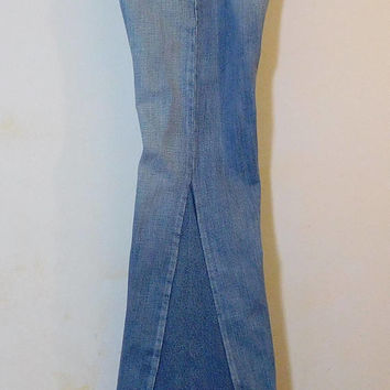 Mens Levi Bell Bottoms, Bell Bottom Jeans, Peace Sign Patch, Secret Pocket, 33 Waist, Hippie Clothes, Bohemian, 70s, Frayed Worn, Flare, 501