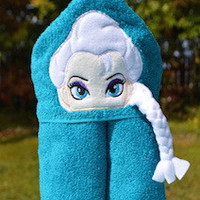 Snow Queen Hooded Towel