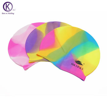 Quality Silicone Swimming Cap Mixed color Swim Cap swimming pool accessories for adult women and  men
