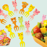 Buy Kawaii Animal Bento Food Forks Set of 12 at Tofu Cute