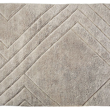 Serena & Lily, 5'x7' Hand-Knotted Diamond Rug, Shale, Area Rugs