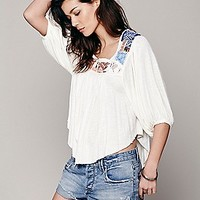 Free Bird Embroidered Top
