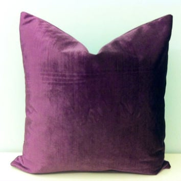 Purple Velvet Throw Pillows : Shop Purple Velvet Pillow on Wanelo