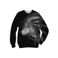 Don't Define Your World In Black & White (Chief of Dreams: Wolf) Unisex Sweatshirt created by soaringanchordesigns | Print All Over Me