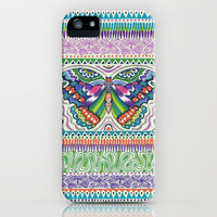 Tribal Butterfly iPhone Case by Janet Broxon