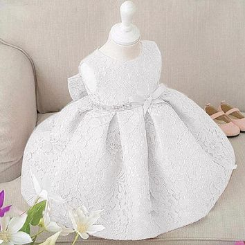 Girl Dresses Lace Sleeveless High Quality Birthday Wedding Bridesmaid Formal Party Dress Girl Summer Flower