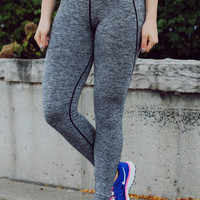 Sports Fanatic Athletic Leggings - Black