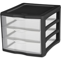Sterilite 3 Drawer Desktop Unit- Black (Available in Case of 4 or Single Unit) - Walmart.com