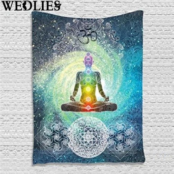 Indian Mandala Wall Hanging Tapestry 200X130cm Bohemian Bedspread Bedsheets Dorm Cover Home Room Wall Art Decor Mat Rug Textiles