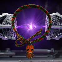 Marvel Guardians of the Galaxy Groot friendship bracelet with charm Free UK Postage!
