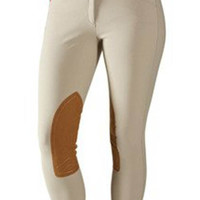 Tailored Sportsman Girl's Trophy Low Rise Front Zip Breeches - 3960 - Tan