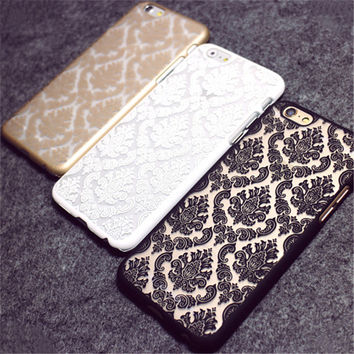 Retro Vintage Flower Cases Damask Henna Floral Paisley Flower Coque Phone Cases Cover For iPhone 7 7Plus 6 6S Plus 5C 5S 4S Capa