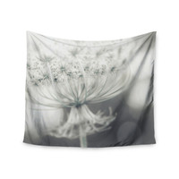 "Debbra Obertanec ""Queen"" White Flower Wall Tapestry"