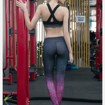 Pink and Gray Gym Leggings
