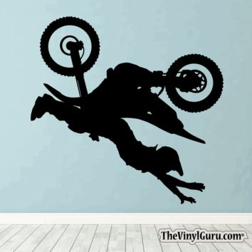 Motocross Wall Decal - Dirt Bike Sticker #00006