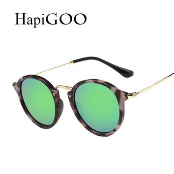 Classic Round Cat Eye Sunglasses Women Fashion Designer Sun Glasses Men Driving Ladies Vintage Coating Mirror Shades