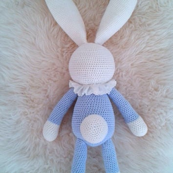 Amigurumi crochet bunny stuffed toy, amigurumi bunny, stuffed bunny, stuffed animal, baby shower gift, nursery decor, crochet animal