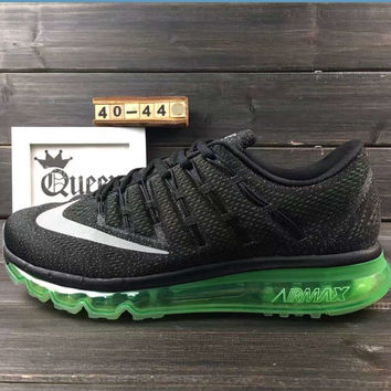"""NIKE"" The new lightweight mesh running shoes sneakers Black green soles"