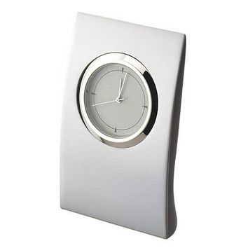 Personalized Free Engraving Silver Desk Custom Clock