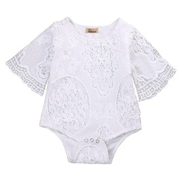 2017 New Infant Baby Girl Lace Floral Romper Jumpsuit Outfits Sunsuit One-pieces Girls Clothes