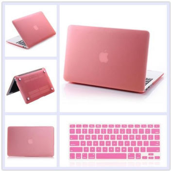 "2in1 for MacBook Pro Retina 13"" 13.3"" Inch A1278 A1502 a1396 a1466 Matte Rubberized Hard Case Cover US Silicone Keyboard Cover"
