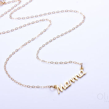 "Mothers day, mom necklace, mother necklace, gold mother necklace, new mom gift, mama necklace, mother daughter jewelry, mom to be,  ""Mama"""
