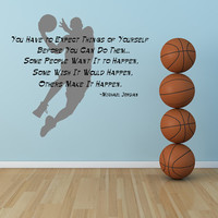 Michael Jordan Inspirational Quote by VinylWallsThatTalk on Etsy