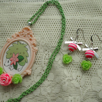 Pokémon - SHAYMIN Jewelry SET - Gamer gear - Cosplay