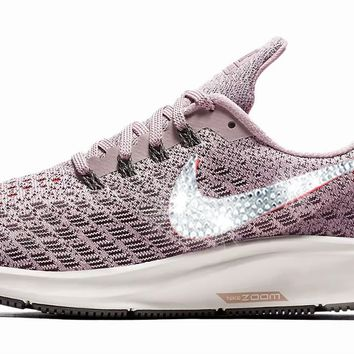 Nike Air Zoom Pegasus 35 + Crystals - Particle Rose/Thunder Grey
