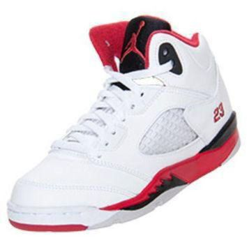 ONETOW Boys' Preschool Air Jordan 5 Retro Basketball Shoes