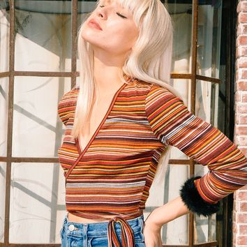 Penny Top (Orange Stripe)