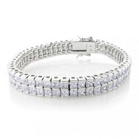 Bling Jewelry 2 Row Wrist Channel