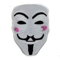 V for Vendetta Mask Patch Iron on Applique Alternative Clothing