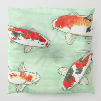 La ronde des carpes koi Floor Pillow by Savousepate