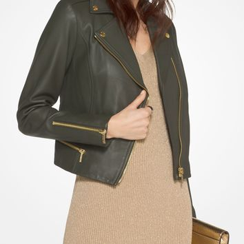 Leather Biker Jacket | Michael Kors