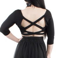 Morgana Cross Back Top | Tragic Beautiful - Tragic Beautiful buy online from Australia